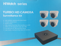 HiWatch 4 Channel 1080p CCTV Kit- T104Q-B/1T